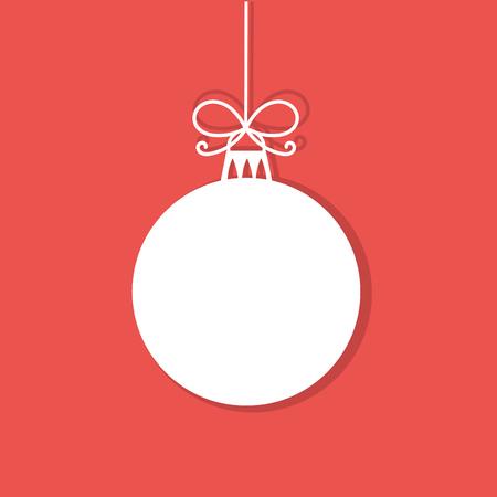 Ilustración de Christmas bauble white tag. Vector illustration - Imagen libre de derechos