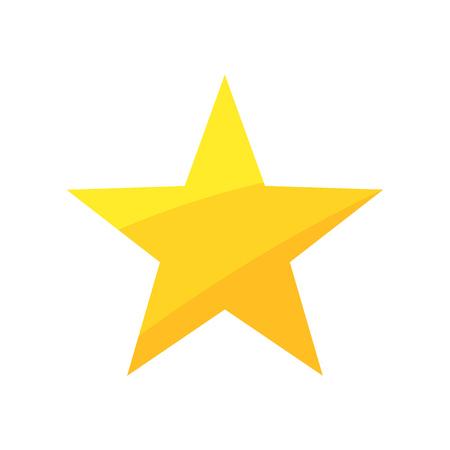 Illustration for Gold star. Vector illustration - Royalty Free Image