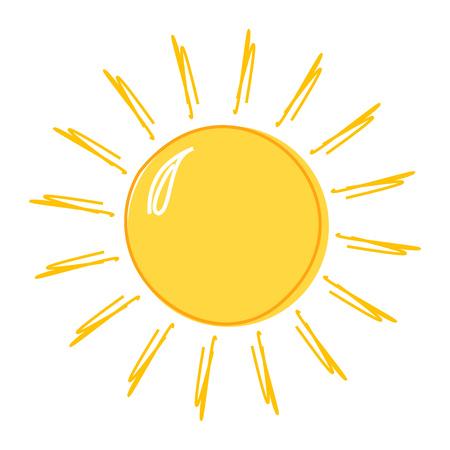Ilustración de Doodle sun drawing icon. Vector illustration - Imagen libre de derechos
