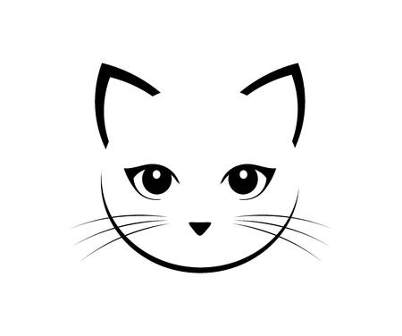 Illustrazione per Cute cat face. Vector illustration. - Immagini Royalty Free