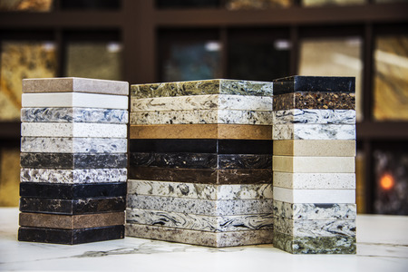 Photo for Natural stone sample colors on display - Royalty Free Image