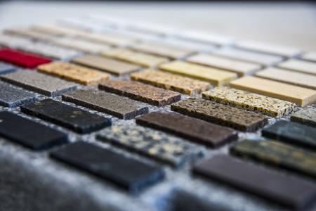Foto de Kitchen counter sample color stone - Imagen libre de derechos