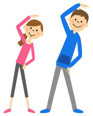 Warm-up exercise couple