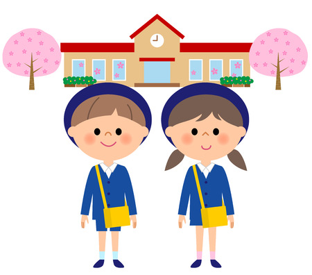 Kindergarten child, child nursery school, cherry blossoms