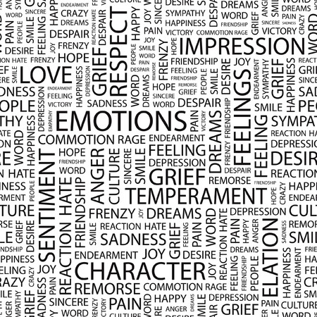 EMOTIONS.pattern with word cloud.