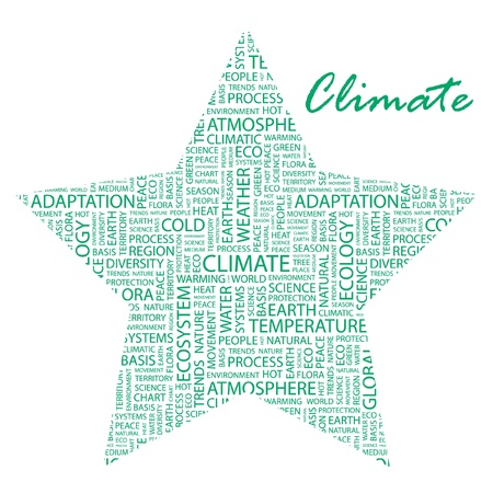 CLIMATE. Word collage on white background.