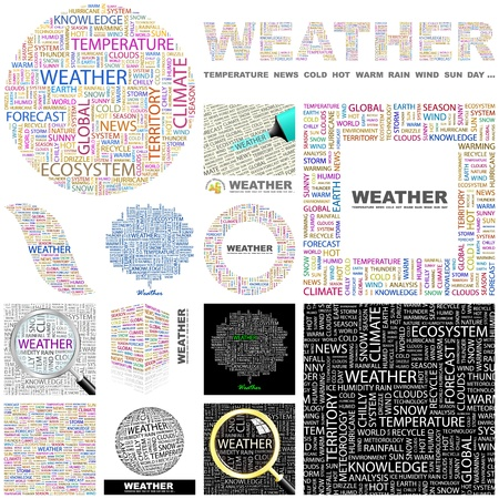 WEATHER. Concept illustration. GREAT COLLECTION.