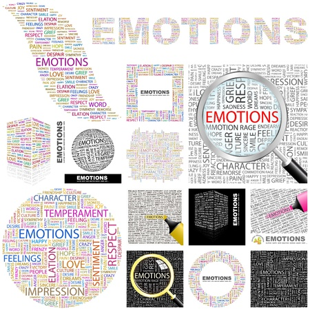 EMOTIONS. Concept illustration. GREAT COLLECTION.