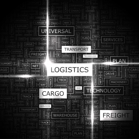 Photo pour LOGISTICS  Word cloud concept illustration  - image libre de droit