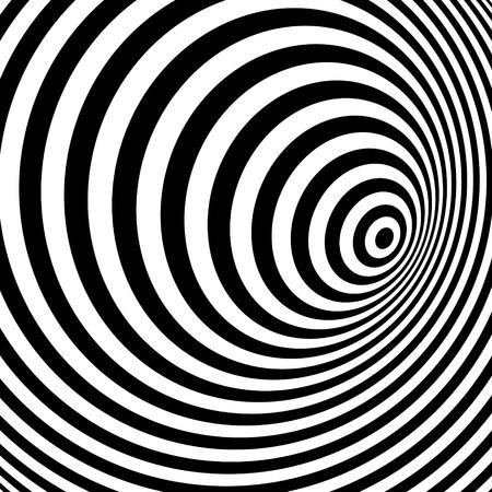 Illustration pour Black and white abstract striped background. Optical Art. Vector illustration. - image libre de droit