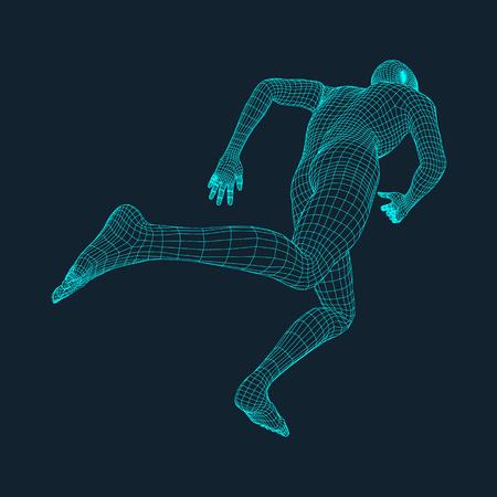 Ilustración de Running Man. Polygonal Design. - Imagen libre de derechos
