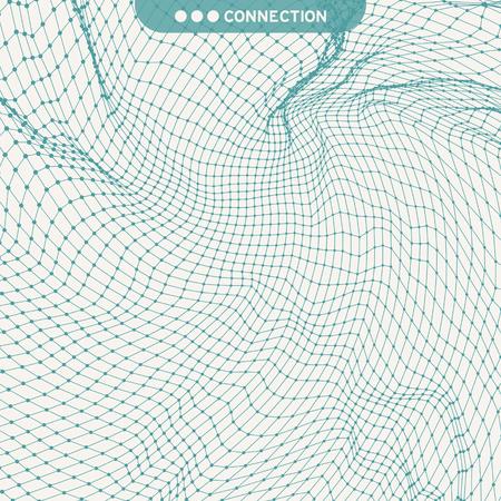 Illustration pour Lattice Structure. Science or Technology Background. Graphic Design. 3D Grid Surface. Abstract  Vector Illustration. - image libre de droit