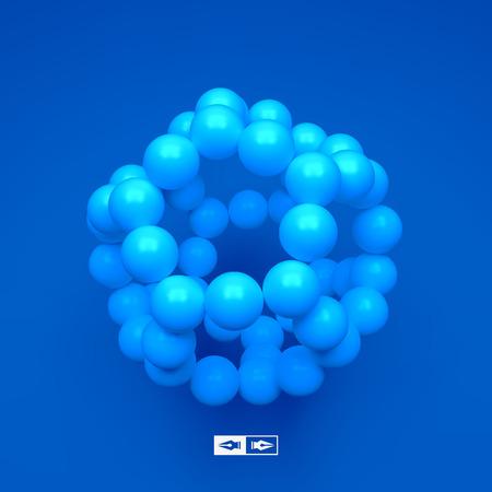 Illustration pour Molecular structure with spheres for marketing, website, presentation. - image libre de droit