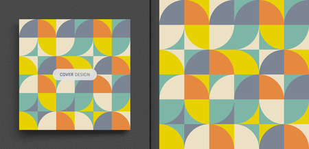 Illustration for Cover design template for advertising. Abstract colorful geometric design. Pattern can be used as a template for brochure, annual report, magazine, poster, presentation, flyer and banner. - Royalty Free Image
