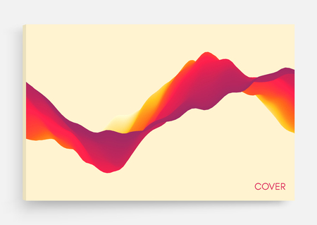 Illustration for Abstract wavy background for banner, flyer, book cover, poster. Dynamic effect. Vector illustration. Design template. - Royalty Free Image