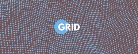 Illustration pour Abstract science or technology background. Graphic design. Network illustration. 3D grid surface. - image libre de droit