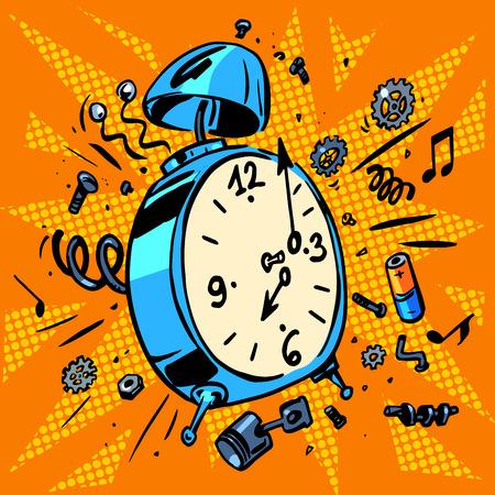 Illustration pour Technique work schedule illustrations of an alarm clock - image libre de droit