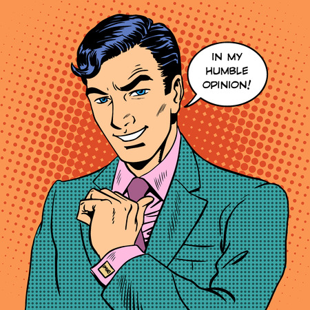 Illustration pour Retro style pop art of a businessman - image libre de droit