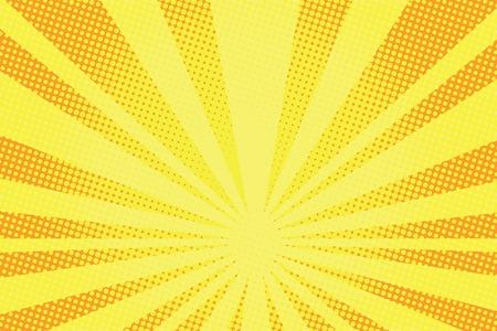 Illustration pour retro comic yellow background raster gradient halftone pop art retro style - image libre de droit