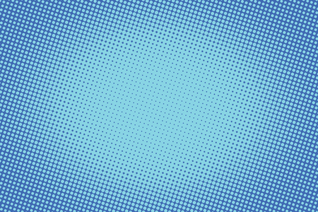 Ilustración de retro comic blue background raster gradient halftone pop art retro style - Imagen libre de derechos