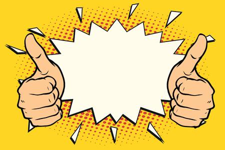 Illustration pour thumb up like - image libre de droit