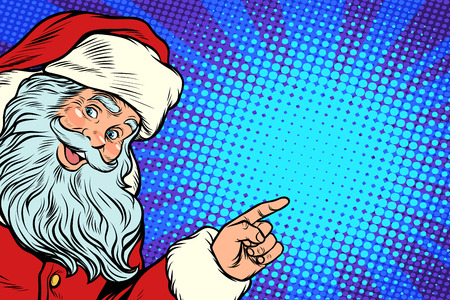 Illustration pour Santa Claus pointing to copy space - image libre de droit