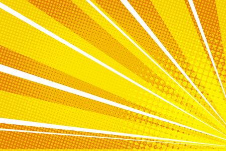 Illustration pour Yellow orange pop art rays sunrise - image libre de droit