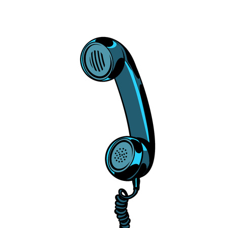 Illustration pour retro telephone tube isolated on white background - image libre de droit
