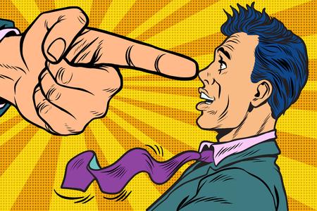 Illustrazione per Boss threatens finger to businessman - Immagini Royalty Free