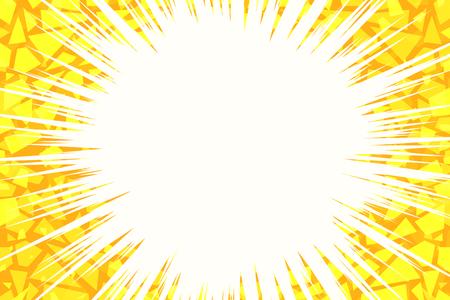 Ilustración de yellow light background cracked. Pop art retro vector illustration - Imagen libre de derechos