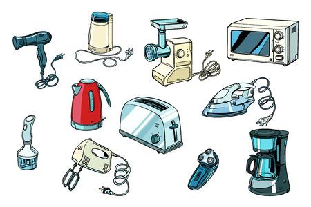 Illustration pour power tools for kitchen and home. Pop art retro vector illustration vintage kitsch - image libre de droit