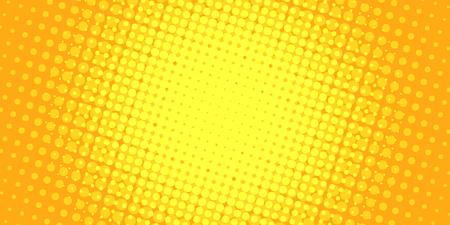 Illustration pour yellow halftone background. Pop art retro vector illustration vintage kitsch - image libre de droit