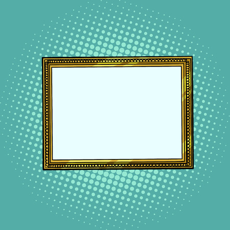 Illustration for picture frame, blank pattern - Royalty Free Image