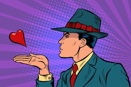 Ilustración de man air kiss - Imagen libre de derechos