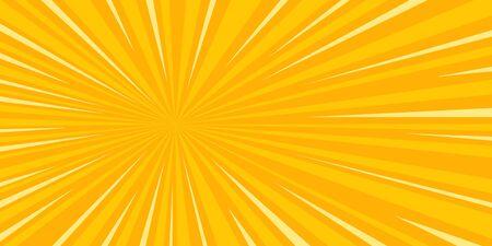 Illustration pour pop art sun background retro vector illustration drawing - image libre de droit