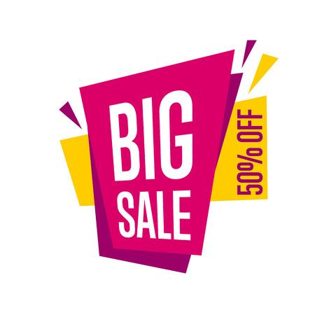 Illustration pour Big sale tag vector isolated. - image libre de droit
