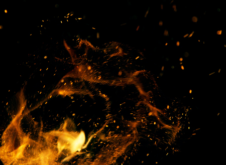 Photo for Fire flames on a black background - Royalty Free Image