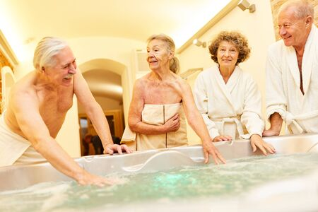 Seniors undergo a cure and look forward to the whirlpool in the Wellness Spa