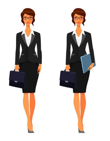 Illustrazione per elegant business woman with briefcase - Immagini Royalty Free