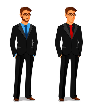 Illustration for elegant young man in business suit - Royalty Free Image