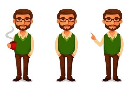 Illustrazione per friendly cartoon guy in casual clothes - Immagini Royalty Free