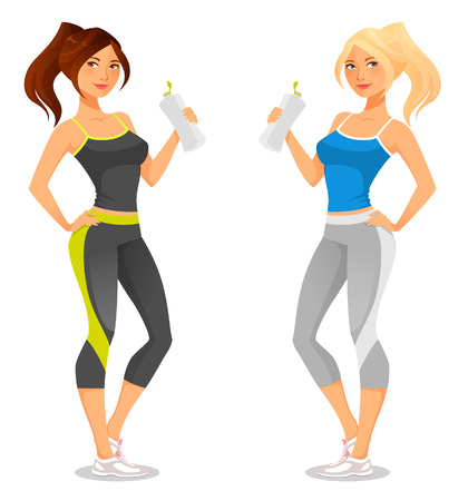 Illustration pour fit young woman in sportswear - image libre de droit