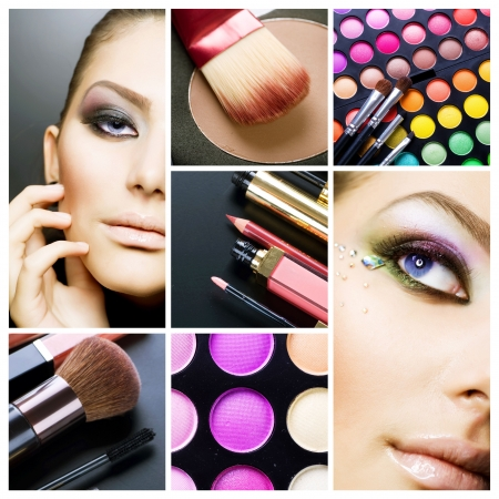 Makeup. Beautiful Make-up collage