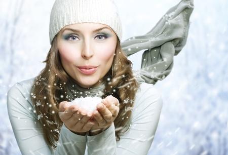 Winter Beauty Blowing Snow