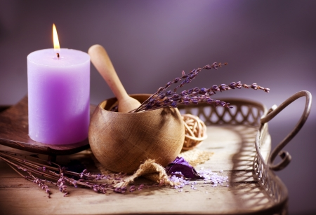 Photo for Lavender Spa. Natural Organic Cosmetics  - Royalty Free Image