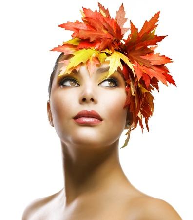 Foto de Autumn Woman Fashion Makeup  - Imagen libre de derechos
