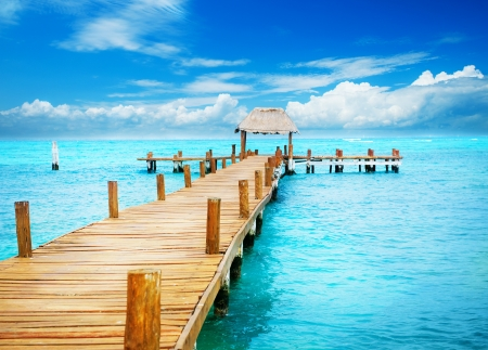 Photo for Vacation in Tropic Paradise  Jetty on Isla Mujeres, Mexico - Royalty Free Image