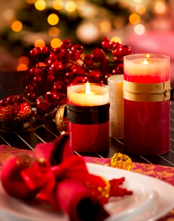 Christmas Table Setting Holiday Decorations