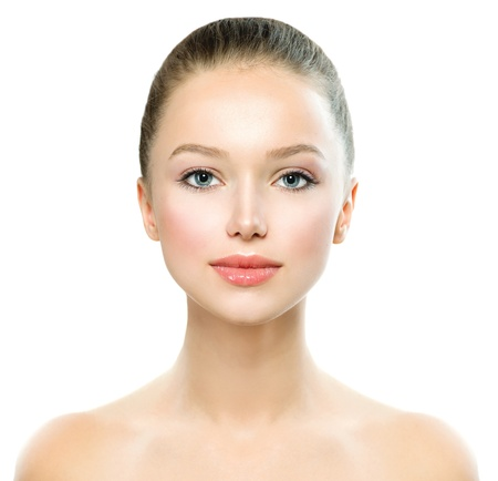 Photo for Beauty Girl  Beautiful Young Woman with Fresh Clean Skin  - Royalty Free Image
