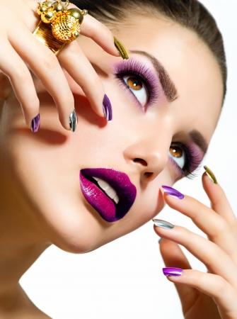 Fashion Beauty  Manicure and Make-up  Nail Art